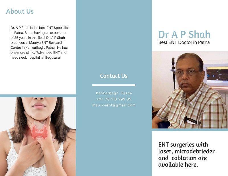 Dr. A P Shah – Best ENT Surgeon in Patna, Bihar