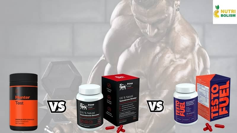 Hunter Test vs Prime Male vs TestoFuel – Comparing Top T-Boosters