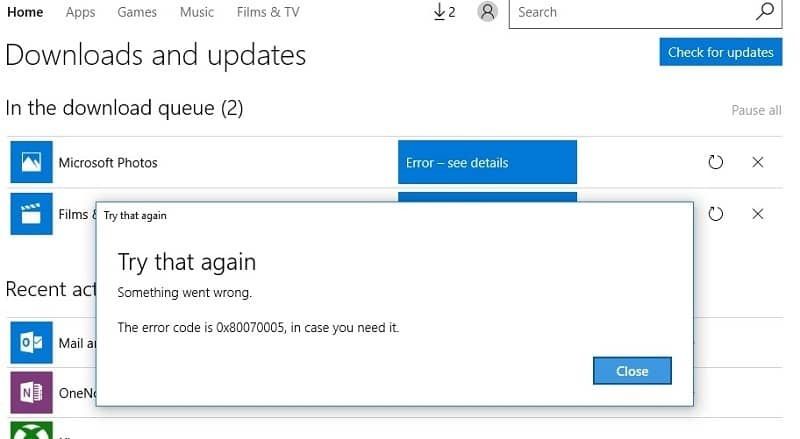 A complete Guide to Fix Windows 10 Error 0x80070005