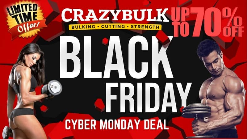 Get 50% OFF + Extra 20% OFF + Buy 2 Get 1 FREE | Crazy Bulk Black Friday