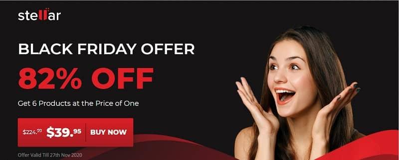 Stellar Black Friday Deal is Back, Get 82% Discount on Stellar Premium Software.