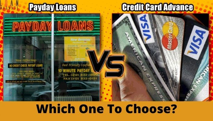 Credit Card Cash Advance vs Payday Loan: Which One To Choose?