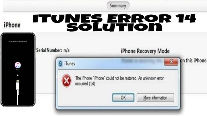 Ways to Fix iPhone Error 14 [iTunes Error 14]