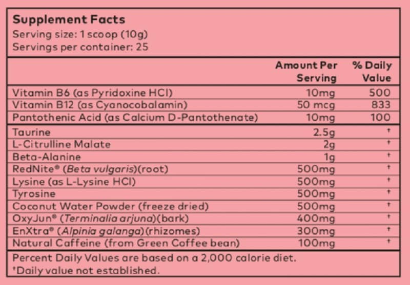powher-pre-workout-ingredients