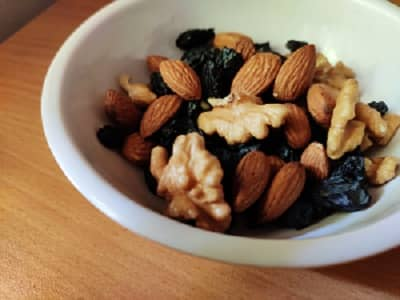 bowl filled with nuts